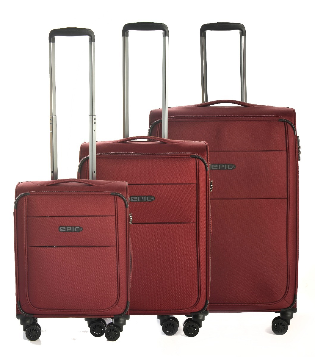 Epic Discovery Ultra 4X 3 set - 75cm + 65cm + 55cm - 4 hjul-Red