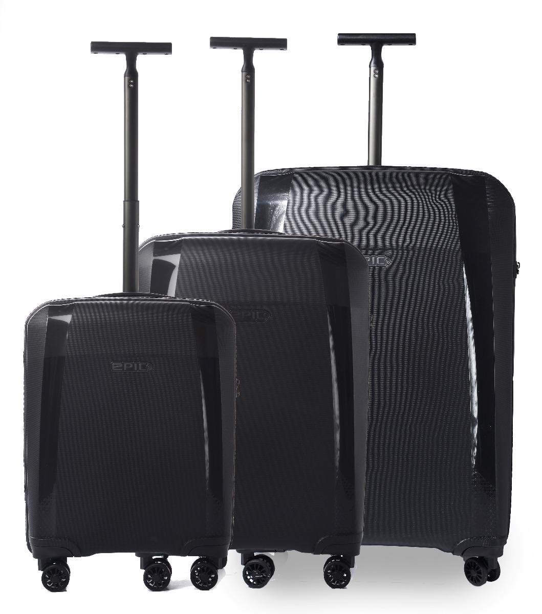Epic Phantom SL 3 set - 76cm + 66cm + 55cm - 4 hjul-Black